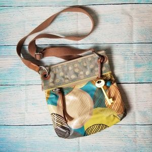 Fossil Key-per multicolor crossbody  bag